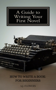 A GUIDE TO WRITING YOUR FIRST NOVEL (EBOOK COVER)